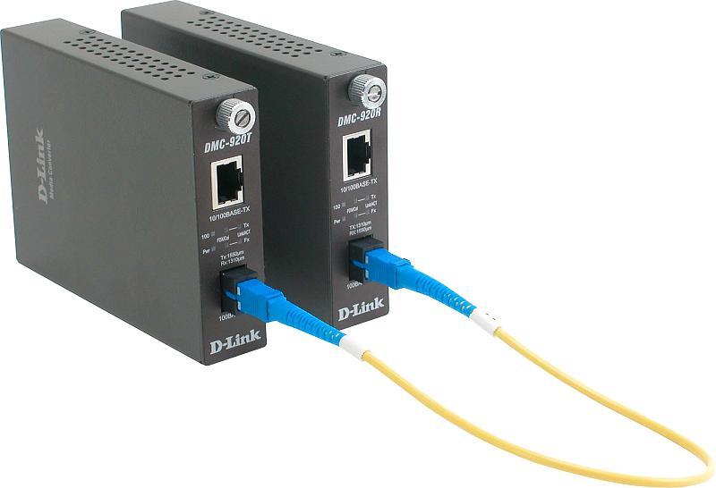 Медиаконвертер D-link DMC-920R 100BaseTX/FX 20km WDM
