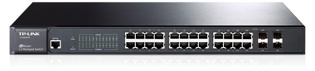 Коммутатор TP-Link Коммутатор  TL-SG3424 (24*1Гбит, 4* SFP, 1 Консольный порт), L2