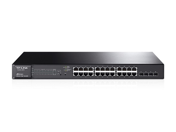 Коммутатор TP-Link Коммутатор  T1600G-28PS JetStream™ (24*Gigabit PoE+, 4*SFP, 192W max,