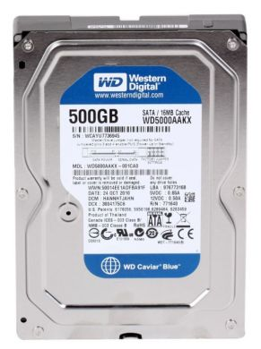 Винчестер Western Digital (WD) 500Гб (WD5000AAKX)