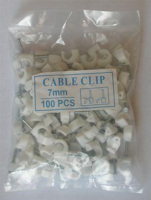 Клипсы для крепления коаксиального кабеля типа 690BV Kitay 7e белые