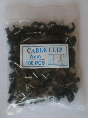 Клипсы для крепления коаксиального кабеля типа 690BV Kitay 7e черные