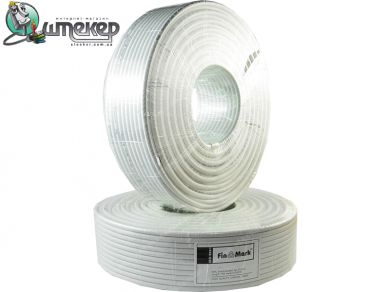 Телевизионный кабель FinMark RG-6 White/Black