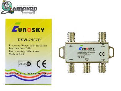 Коммутатор EuroSky DSW-7107P 4 in 1