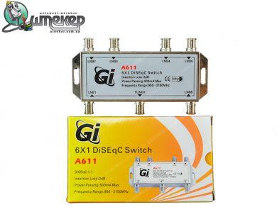 Коммутатор Galaxy Innovations A611 6 in 1
