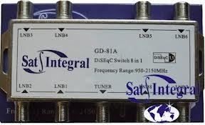 Комутатор SatIntegral GD-81A 8 in 1