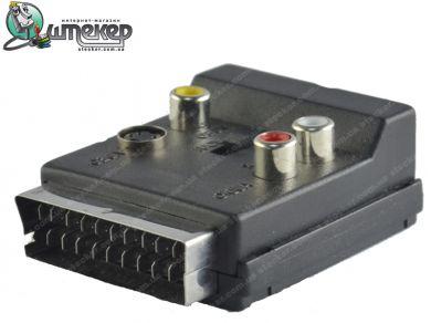 Переходник SCART в RCA с переключателем Kitay SR