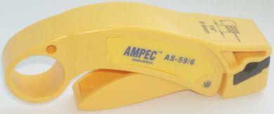 Нож для разделки коаксиального кабеля AMPEC AS-59/6