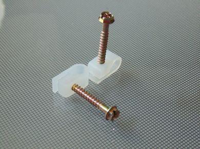 Клипсы с шурупом White/Black для крепления коаксиального кабеля типа RG-5-6 USA RR1