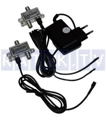 ИК-повторитель по ВЧ кабелю с одним бп Ratek DC Kit