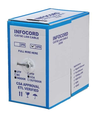 Кабель витая пара INFOCORD UTP CCA OUTDOOR cat5 305m
