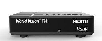 Цифровой эфирный DVB-T2 ресивер World Vision T34