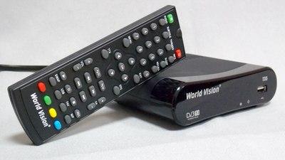 Цифровой эфирный DVB-T2 ресивер World Vision T35