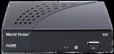 Цифровой эфирный DVB-T2 ресивер World Vision T37