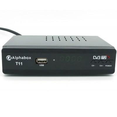 Цифровой эфирный DVB-T2 ресивер AlphaBox T11