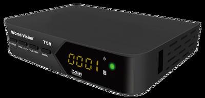 Цифровой эфирный DVB-T2 ресивер World Vision T58