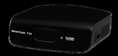 Цифровой эфирный DVB-T2 ресивер World Vision T39