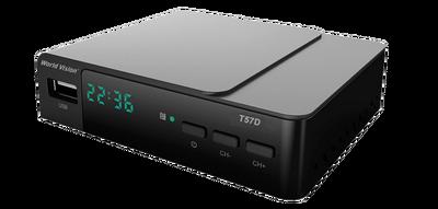 Цифровой эфирный DVB-T2 ресивер World Vision T57