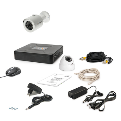 Комплект AHD видеонаблюдения TECSAR 2OUT-MIX