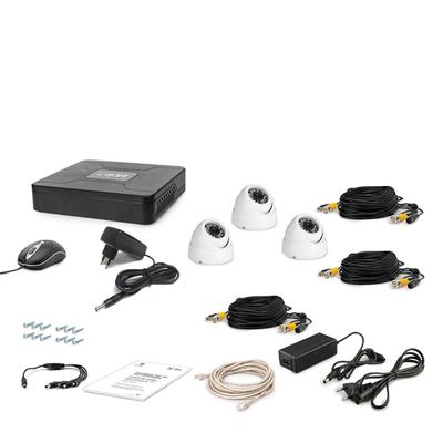 Комплект AHD видеонаблюдения TECSAR 3OUT-DOME