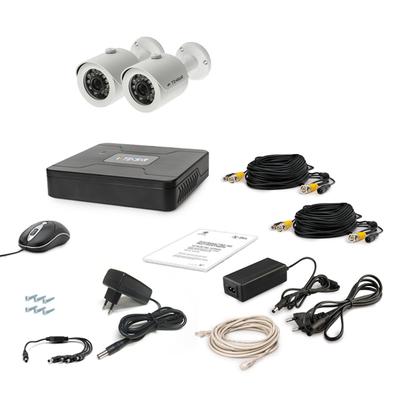 Комплект AHD видеонаблюдения TECSAR 2OUT + HDD 500ГБ
