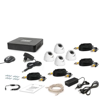 Комплект AHD видеонаблюдения TECSAR 4OUT-DOME