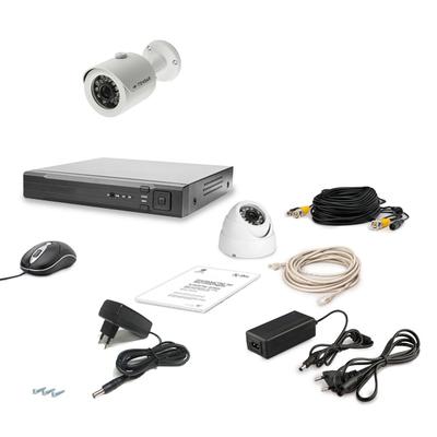 Комплект AHD видеонаблюдения TECSAR 2OUT-MIX LUX