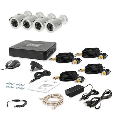 Комплект AHD видеонаблюдения TECSAR 4OUT + HDD 1TБ