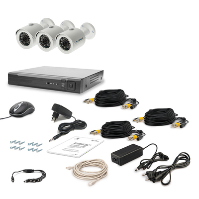 Комплект AHD видеонаблюдения TECSAR 3OUT LUX