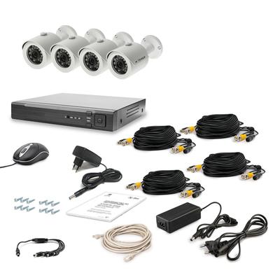 Комплект AHD видеонаблюдения TECSAR 4OUT LUX