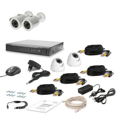Комплект AHD видеонаблюдения TECSAR 4OUT-MIX LUX