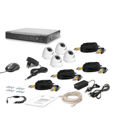 Комплект AHD видеонаблюдения TECSAR 4OUT-DOME LUX