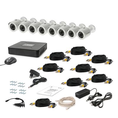 Комплект AHD видеонаблюдения TECSAR 8OUT + HDD 2TБ