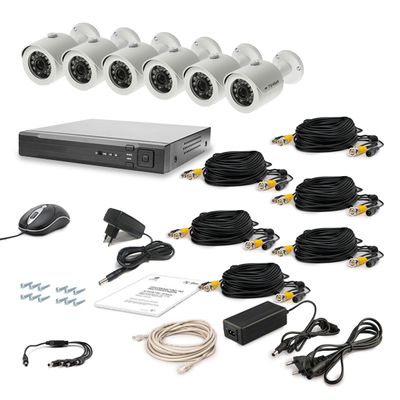 Комплект AHD видеонаблюдения TECSAR 6OUT LUX