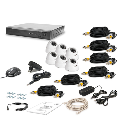 Комплект AHD видеонаблюдения TECSAR 6OUT-DOME LUX