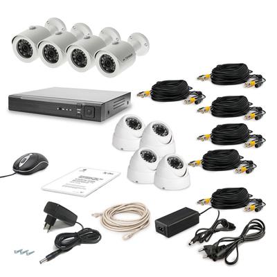 Комплект AHD видеонаблюдения TECSAR 8OUT-MIX LUX