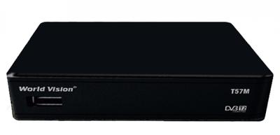 Цифровой эфирный DVB-T2 ресивер World Vision T57M