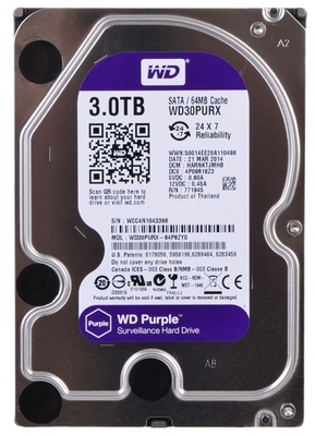 Винчестер Western Digital (WD) 3Тб WD30PURX