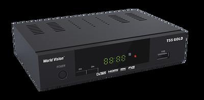 Цифровой эфирный DVB-T2 ресивер World Vision T55 GOLD