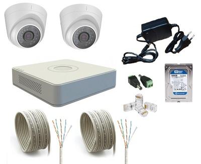 Комплект IP видеонаблюдения Hikvision IP-KIT 2x1.0Mp MF V1.0