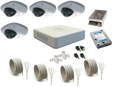 Комплект IP видеонаблюдения Hikvision IP-KIT 4x1.3Mp MF V1.0
