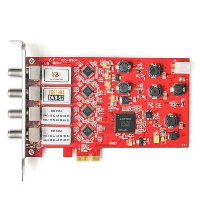 DVB карта TBS 6904 DVB-S2 Quad Tuner PCIe Card