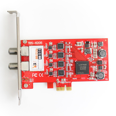 DVB карта TBS 6205 DVB-T2/T/C Quad Tuner PCIe Card