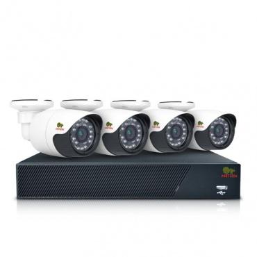 Комплект AHD видеонаблюдения Partizan Outdoor Kit 1MP 4xAHD