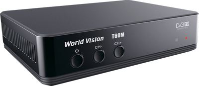 Цифровой эфирный DVB-T2 ресивер World Vision T60M