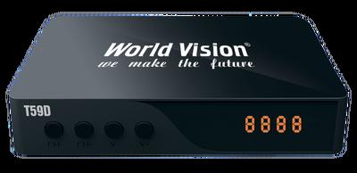 Цифровой эфирный DVB-T2 ресивер World Vision T59D