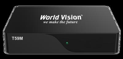 Цифровой эфирный DVB-T2 ресивер World Vision T59M