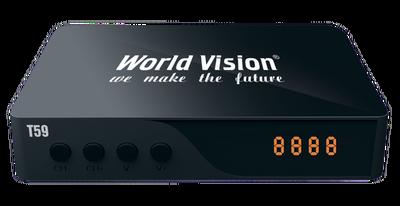Цифровой эфирный DVB-T2 ресивер World Vision T59