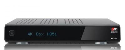 Спутниковый UHDTV ресивер Opticum AX 4K-BOX HD51 UHD DVB-S2X