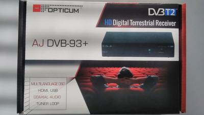 Цифровой эфирный DVB-T2 ресивер Opticum AJ DVB-93+